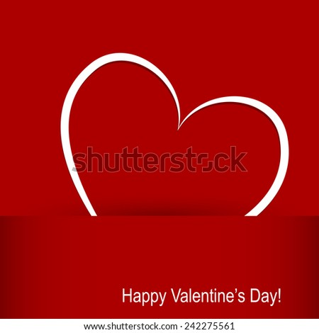 card on Valentine's Day. hearts on a red background