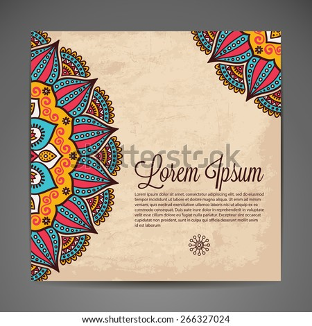 Card invitation vintage decorative elements hand stock vector card or invitation vintage decorative elements hand drawn background islam arabic stopboris Image collections