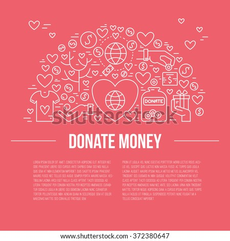 Card Poster Template Charity Fundraising Objects Stock Vector
