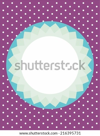 Card or vector invitation with polka dots