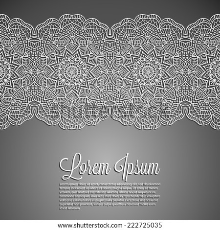 Card or wedding invitation. Round Ornament Pattern. Vintage decorative elements. Hand drawn background.  - stock vector