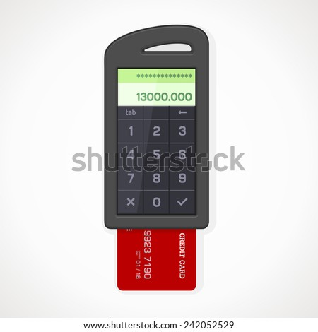 Card Reader Touch to trade. vector format.