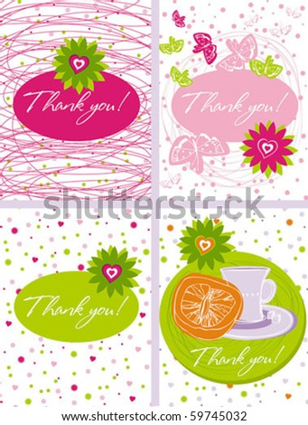 card set - stock vector