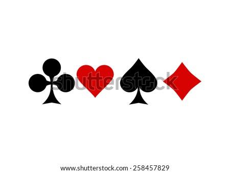 card suit symbols - stock vector