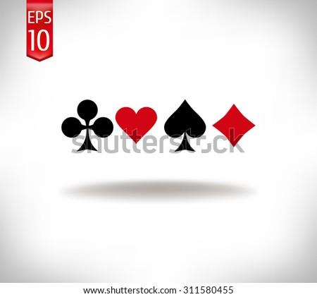 card suit symbols. poker - stock vector