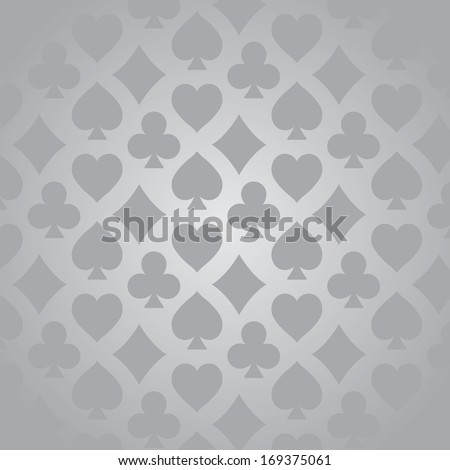 Card suits pattern - stock vector