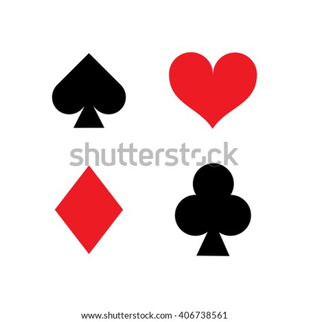 Card Suits Heart Peaks Crosses Tambourine Stock Vector ...