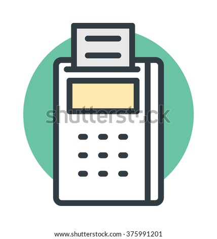 Card Terminal Vector Icon