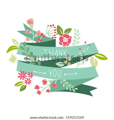 "Card ""Thank you"" - stock vector"