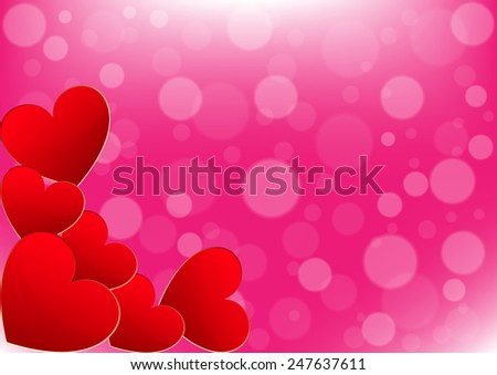 Card  Valentine's Day on a Pink Background - stock vector