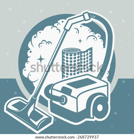 card large industrial vacuum cleaner stock vector 268729937