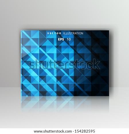 card with abstract geometrical background - stock vector
