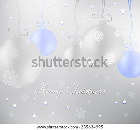 Card with bubbles holiday