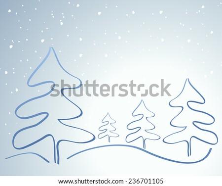 Card with Christmas tree decoration
