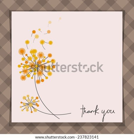 Card with dandelions - stock vector
