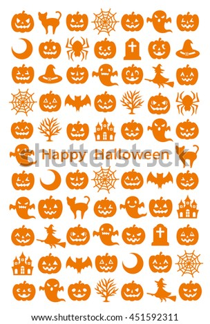 card with Halloween icons.