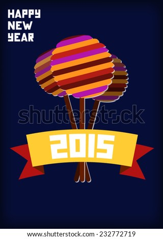 Card with lollipops with swappable background