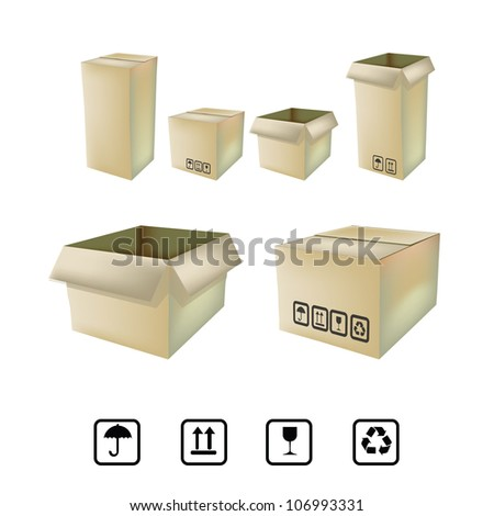 cardboard box - stock vector