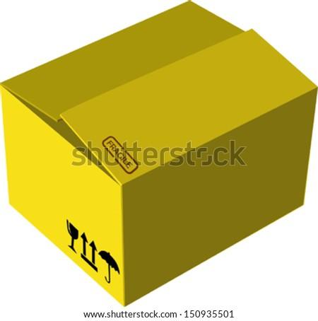 Cardboard box - stock vector