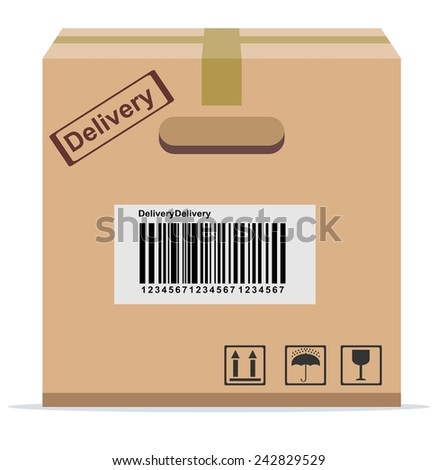 Cardboard Box for delivery . Stock Vector illustration - stock vector