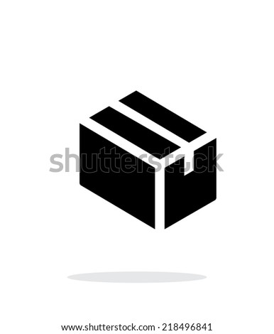 Cardboard box simple icon on white background. Vector illustration. - stock vector
