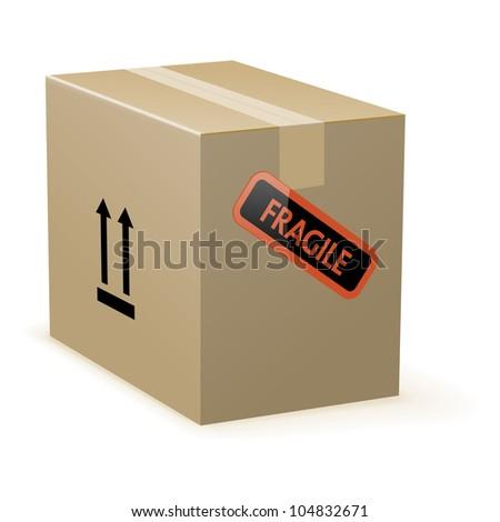 Cardboard box, vector - stock vector