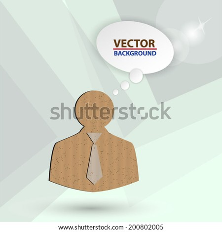 cardboard  Business man icons - stock vector