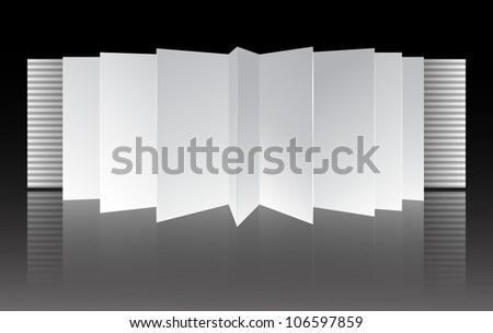 Cardboard open book| Editable Illustration - stock vector