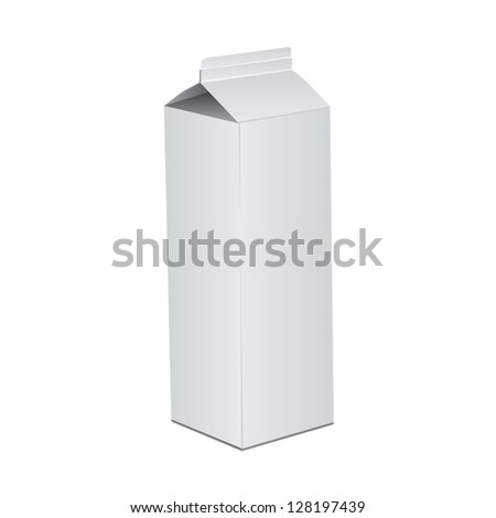 Cardboard package of milk or juice. Vector illustration. - stock vector