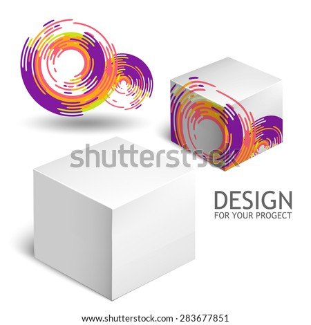 Cardboard Package  White Package Square For Software, Cosmetics, Food And Other Products.  Mock Up Template Ready For Your Design.  Vector Illustration  Isolated On White Background. - stock vector