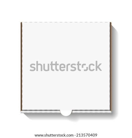 Cardboard pizza box for your design. Vector. - stock vector