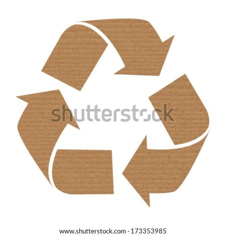 cardboard recycling - stock vector