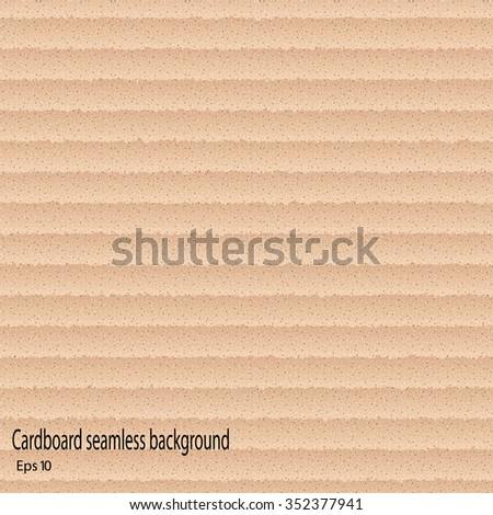 Cardboard seamless texture, background, vector - stock vector