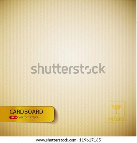 Cardboard texture. - stock vector