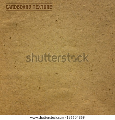 Cardboard Texture, Vector Illustration - stock vector
