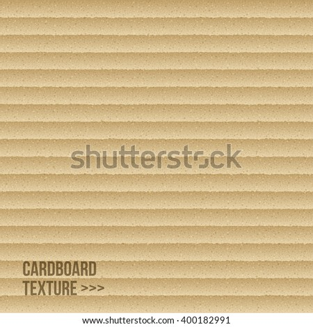 Cardboard texture. Vector illustration. Realistic delivery packaging background - stock vector