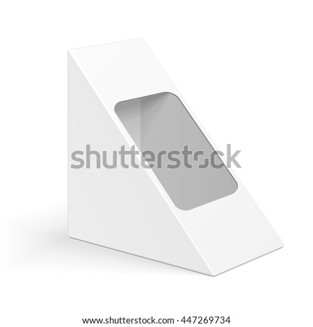 triangle packaging template - cardboard triangle box packaging sandwich food stock