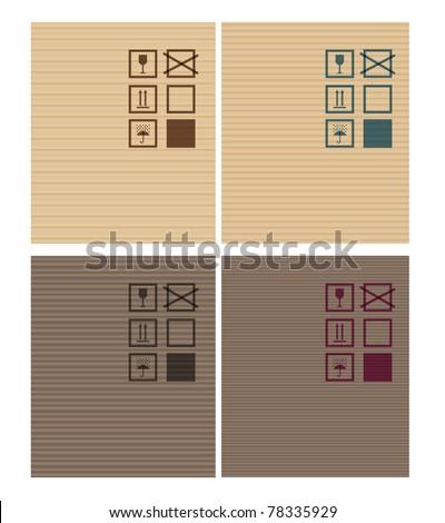 Cardbox vector textures. dark and bright - stock vector