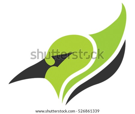 Cardinal Bird Mascot. Tribal Vector Illustration.