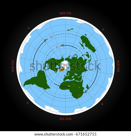 Flat earth stock images royalty free images vectors shutterstock cardinal direction on flat earth map isolated vector illustration gumiabroncs Gallery