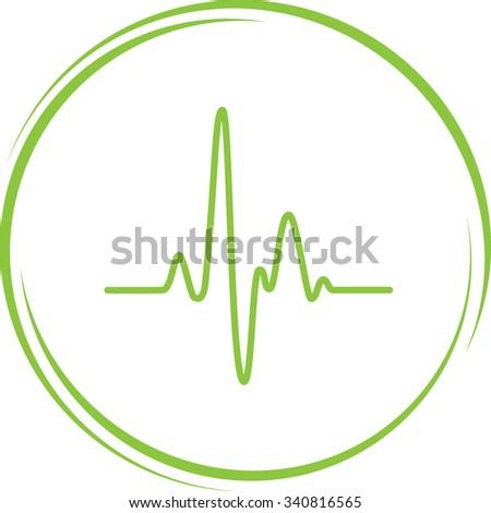 cardiogram. Internet button. Vector icon. - stock vector