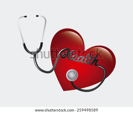 cardiology design, vector illustration eps10 graphic  - stock vector