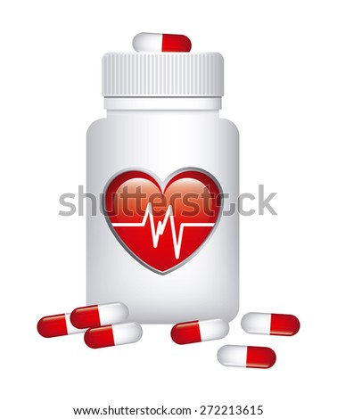 cardiology drugs design, vector illustration eps10 graphic  - stock vector
