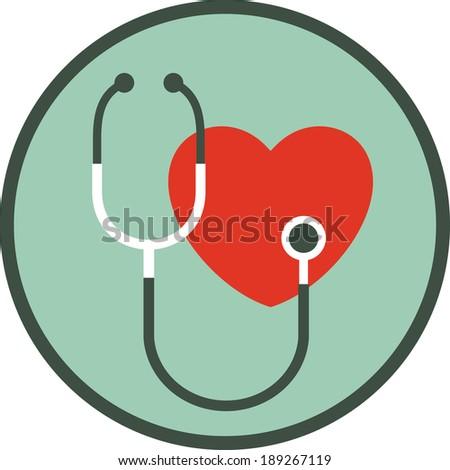Cardiology. Heart doctor vector icon - stock vector