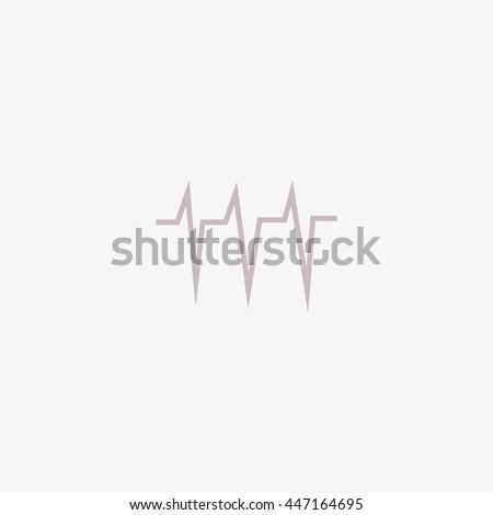 cardiology, icon - stock vector
