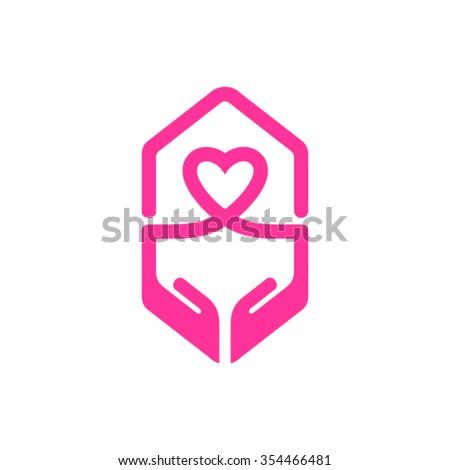 Cardiology logo - stock vector