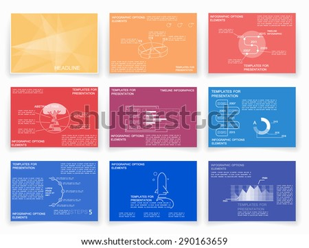 Cards for business data visualization, business reports for project - stock vector