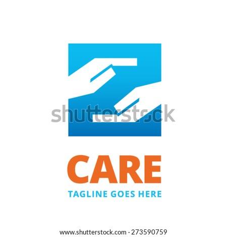 Care logo design - stock vector