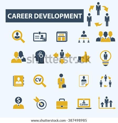 career development icons  - stock vector