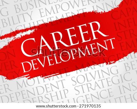 Career development word cloud, business concept - stock vector